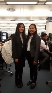 Sreylang and Chinda in London Scholarship Programme