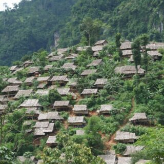 Houses refugee camp Tak