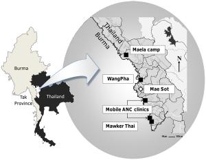 Map Tak Region Refugee Camps