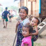 Children smiling siblings Myanmar