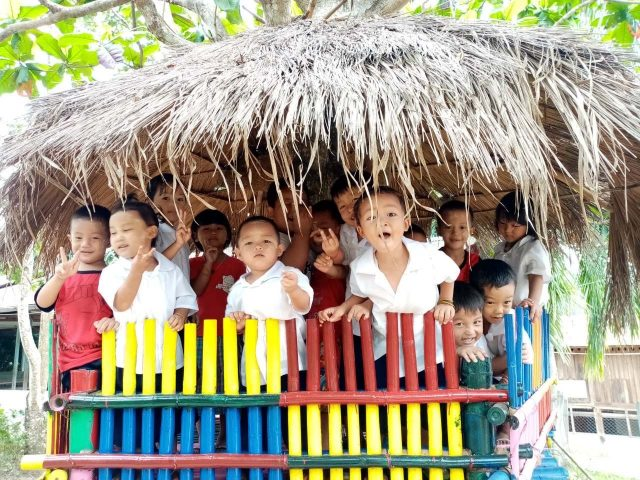 smiley children in montessori kindergartens Myanmar