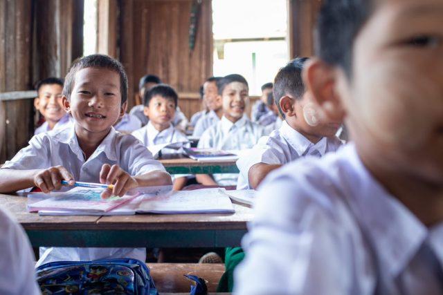 Burma children at school