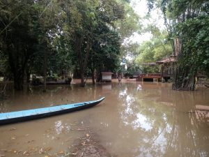 flooding in koroka during rainy season Cambodia