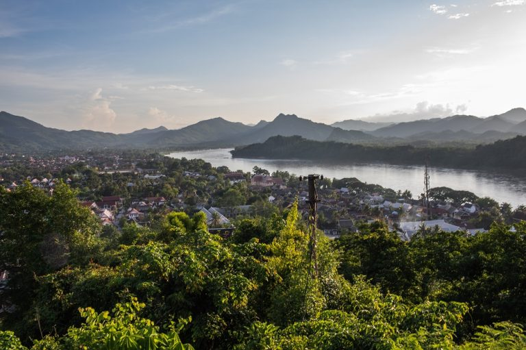 Luang Prabang, former royal capital city, built on the banks of the Mekong and Nam Khan River
