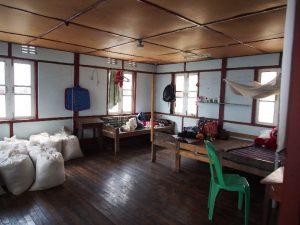 Wood house, dormitory for girls in Tedim