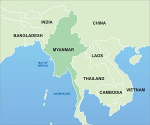 Myanmar Map - Tedim