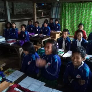 Kids in the classroom in Calthawng