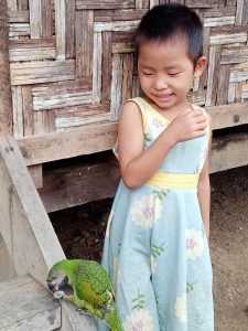 A young Kachin in a displace persons' camp -