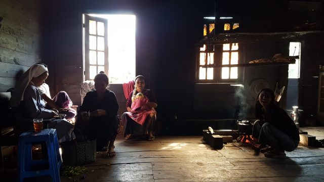 Within families, dialects are most widely used, while Burmese is a foreign language.