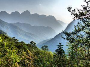 The mountainous Sapa region, in North Vietnam
