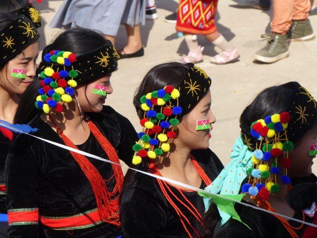 Kachin dancers in Myanmar