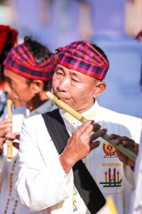 A Jingpaw musician in Myanmar