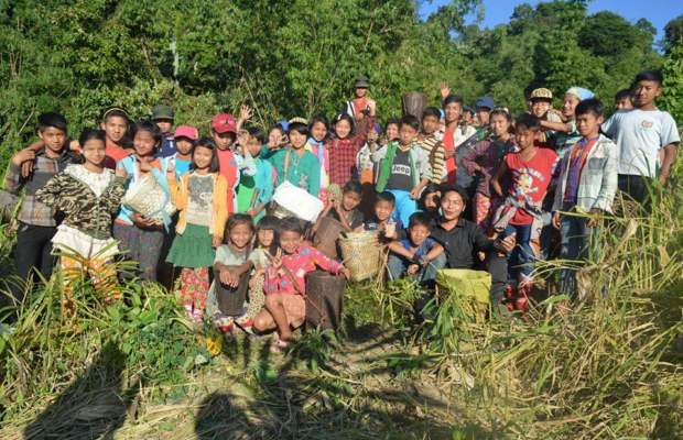 members of Kachin state, children and adults