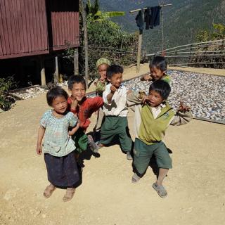 chin region children, smiling