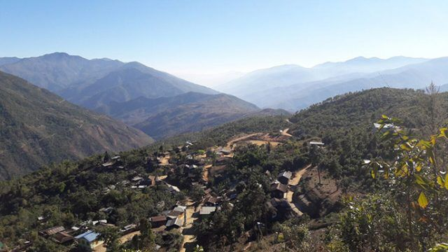 Burmese Mountains in The Chin Hills, Scenery, clouds, Myanmar