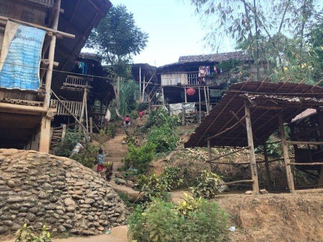 Refugee housing in camp Mae La Oon.